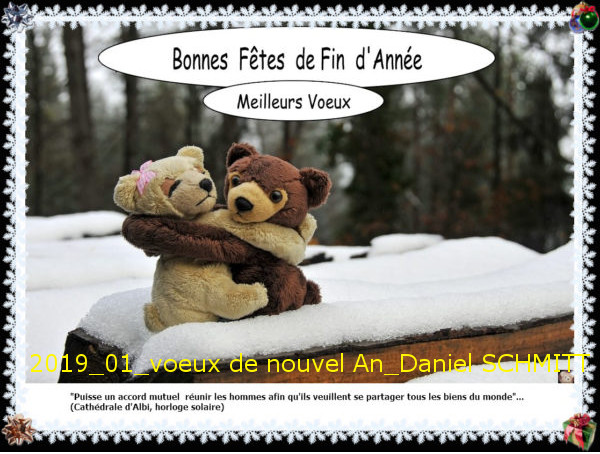 Janvier 2019-Voeux de Nouvel An -Daniel SCHMITT